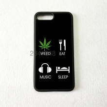 eat weed sleep music classic silicone soft edge phone cases for iPhone 11 pro max 5s SE 6 6s 7 8 plus X XR XS MAX cover