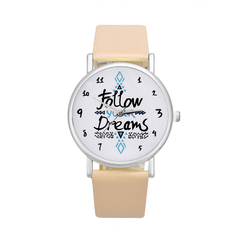 Womens Watches Best Sellers  Follow Dreams Letter Pattern Clock Rome Nombre Mode Top Marque Montre Femme Acier Inoxydable@50Womens Watches Best Sellers  Follow Dreams Letter Pattern Clock Rome Nombre Mode Top Marque Montre Femme Acier Inoxydable@50