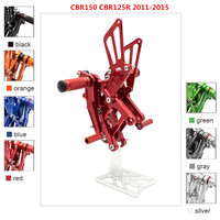 For Honda CBR150 CBR125 2011 2015 CNC Motorcycle Foot Pegs Rearset Foot Rests CBR 125 150 Footrest Footpegs Pedal Rear Set