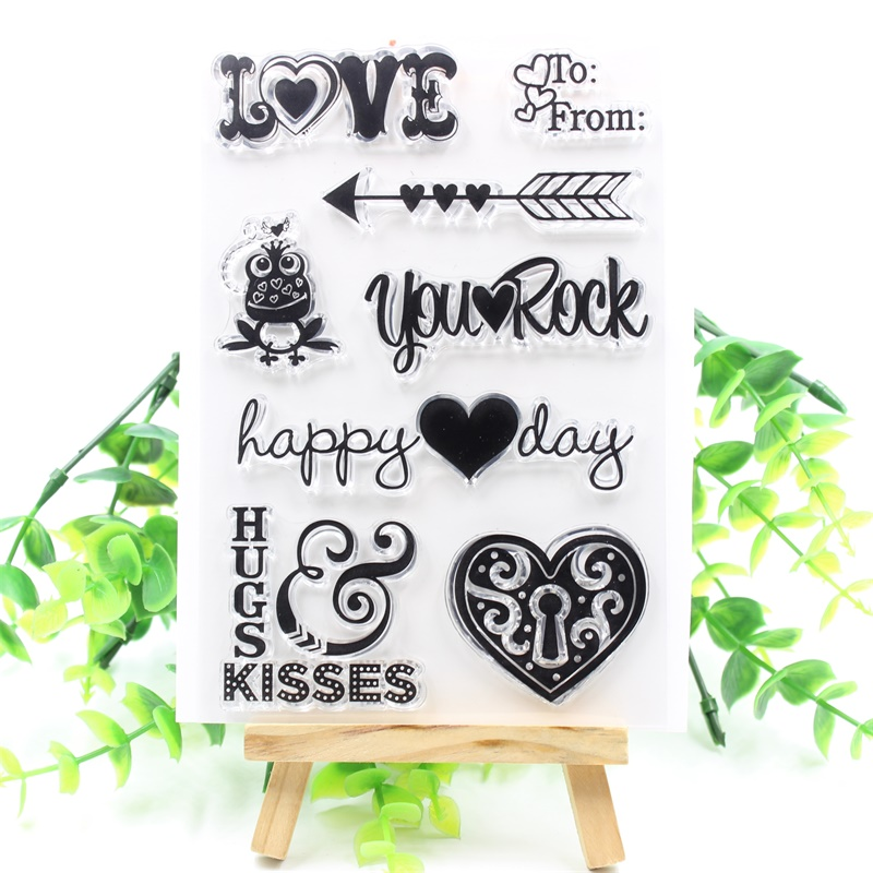 YPP CRAFT LOVE Transparent Clear Silicone Stamps for DIY Scrapbooking/Card Making/Kids Fun Decoration Supplies