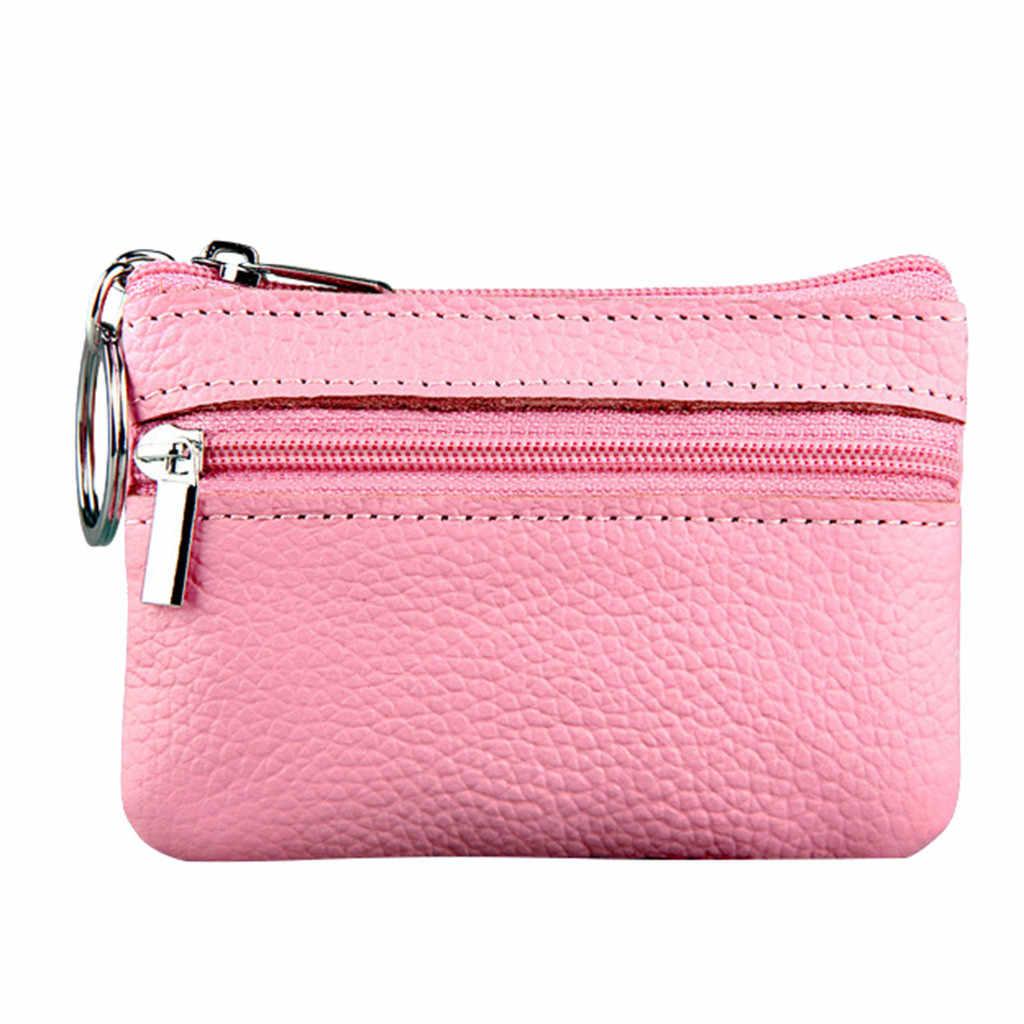 Kadın bozuk para cüzdanı kısa öğrenci sevimli Mini para çanta küçük cüzdan bulucu değişimi küçük çanta sikke cüzdan Porte Monnaie Femme sıcak