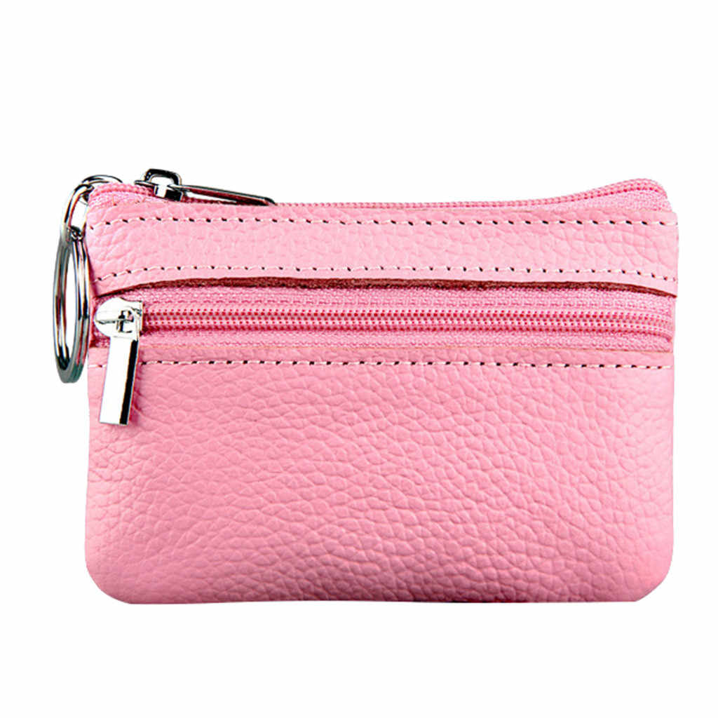 d2edbfac71e9 Women's Coin Purse Short Student Cute Mini Coin Bag Small Wallet Key ...