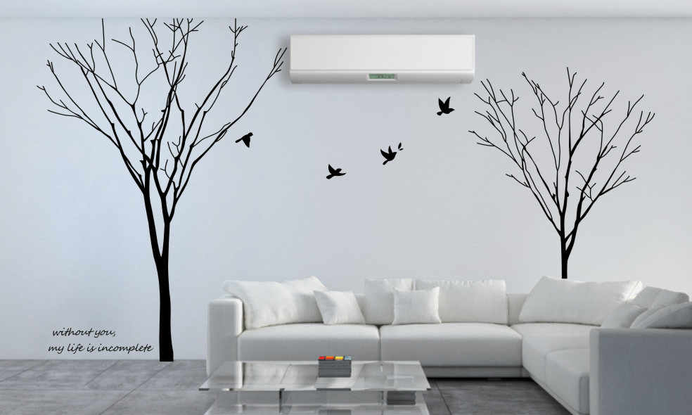 Gemini Tree Branch Removable Wall Art Stickers Mural Vinyl Decal DIY Tree Wall Stickers Home q50
