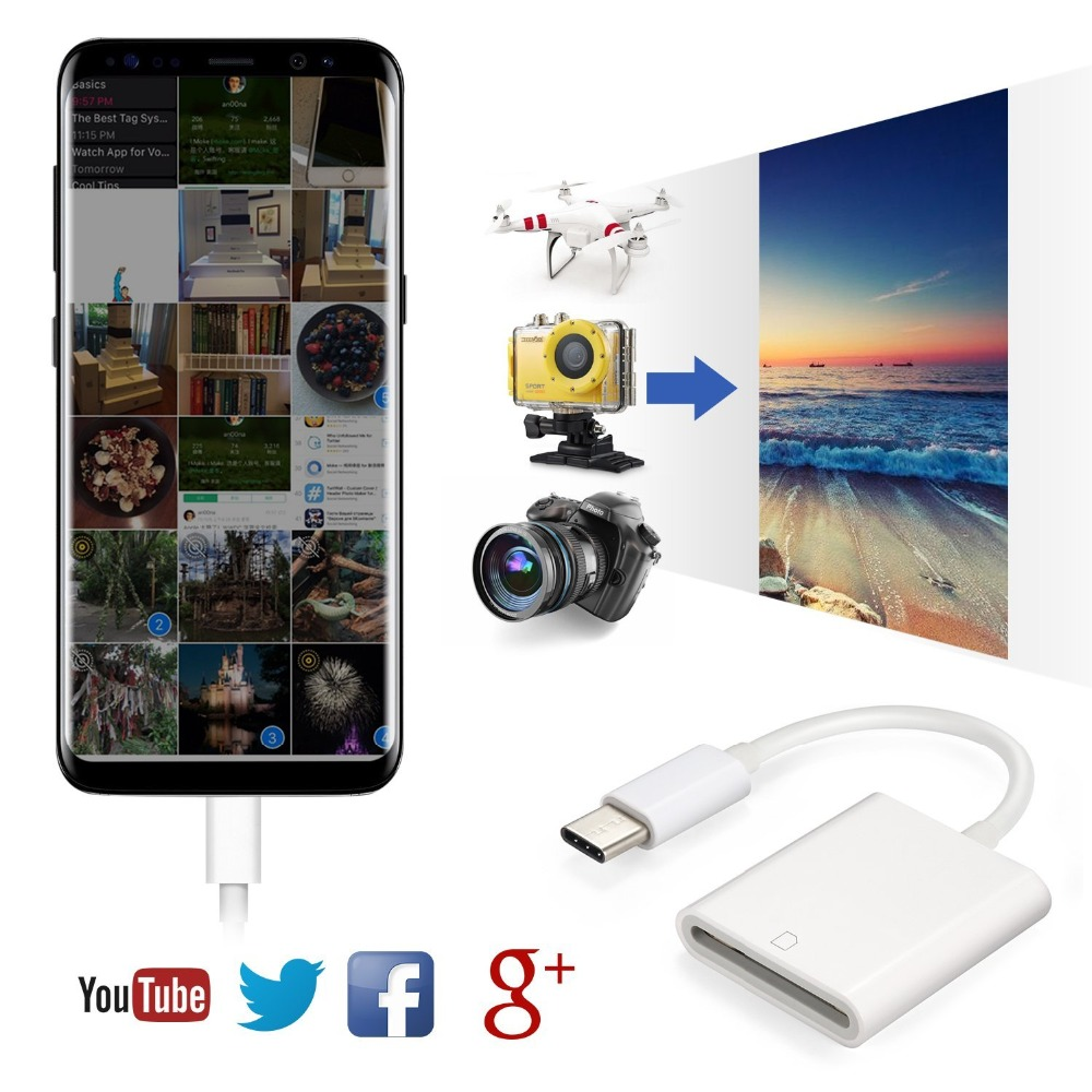 Image 5 - Mini USB 3.1 USB C to SD SDXC Card Digital Camera Reader Adapter Type C Cable for Macbook Cell Smart Phone Samsung Huawei Xiaomi-in Card Readers from Computer & Office