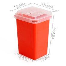 1 шт 1Л красные пластиковые шарпы контейнеры для татуировщиков