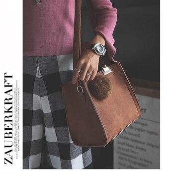 LANLOU Scrub  Leather Hairball Handbag 4
