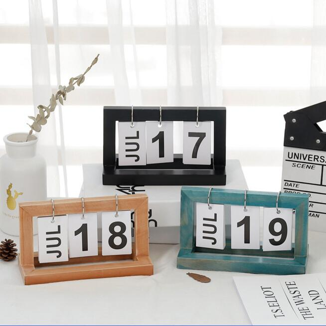 2020 Fashion Desk Wood Calendar Office And Home Table Decoration Manual Table Calendario Pared Stationery Best Birthday Gift