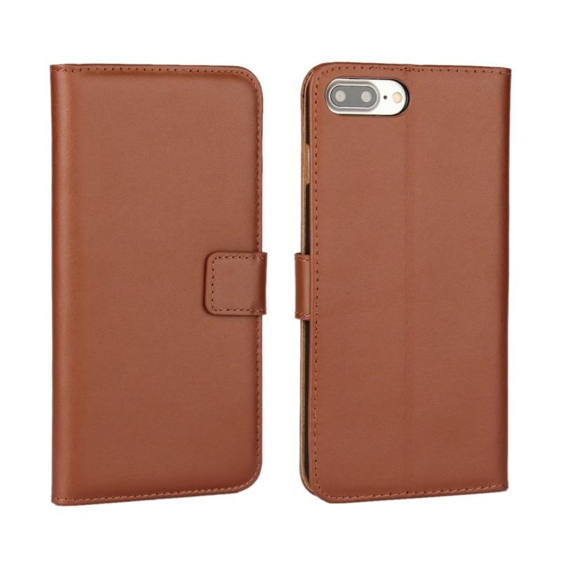 Dompet kulit asli, Kasus Flip Cover untuk iPhone 7/7 Plus / 6 s Plus - Aksesori dan suku cadang ponsel - Foto 3