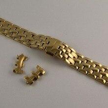 20 мм T97 T031410A R463 чистый твердый ремешок из нержавеющей стали ремешок для часов полностью золотые браслеты для T97
