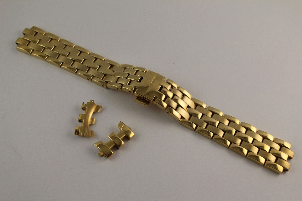 20mm T97 T031410A R463 NEW Pure Solid Stainless steel Watchband Watch Strap Full gold Bracelets For T97