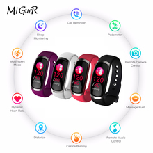 MiGueR smart wrist fitness tracker blood pressure monitoring for Android IOS mobile phone millet VS mi with 3 smart bracelet