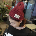 2015 Korean version of the autumn and winter patch pointy hat knit hat wool hat warm hat men and women wild autumn edition