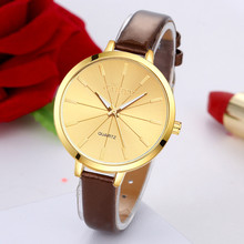 Reloj relogio masculin2017 GAIETY New Arriveal Ladies Vogue Leather-based Band Quartz Spherical Wrist Watch Watches clock 17mar22