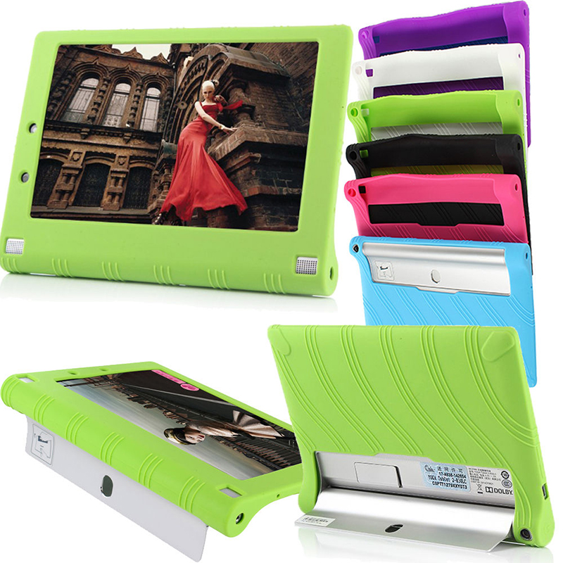 hot sale Silicone Rubber Case Stand Protective Cover For Lenovo Yoga Tablet 2 1050F 10 1