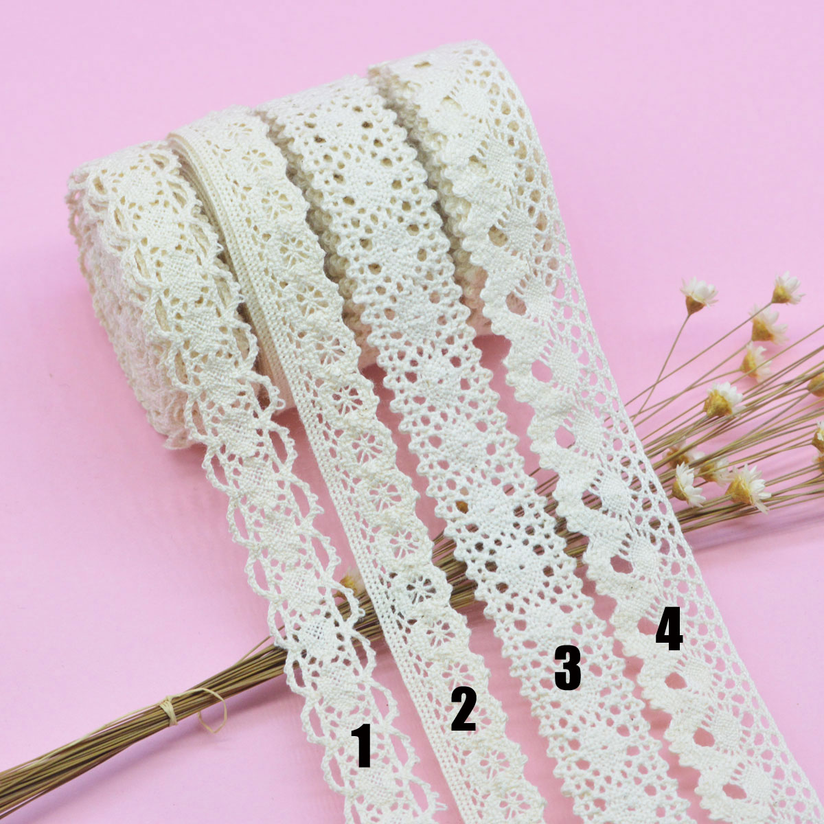 5 Yards Love Heart White Elastic Lace Trim Sewing Fabric DIY Crafts Supplies 3cm