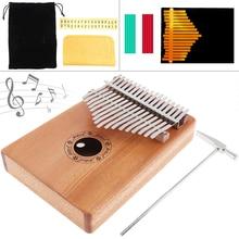 1 Set 17 Key Kalimba African Thumb Finger Piano FOR Sanza Mbira solid Mahogany