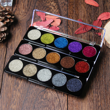 IMAGIC Glitters Eyeshadow Cosmetic Pressed  Diamond Rainbow eyeshadow Make Up party female Palette 5 Color