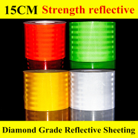 15CM High Intensity microprismatic Reflective Sheeting Truck Warning Safety Strips Conspicuity adhesive Tape car stickers