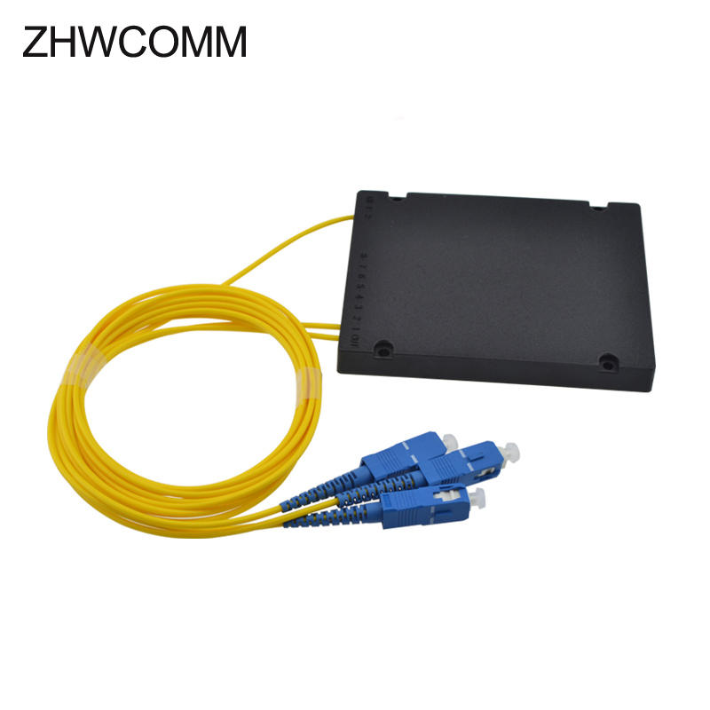 ZHWCOMM High Quality 1M SC 1X2 Fiber Optic splitter box SC/UPC Fiber Optical PLC Splitter