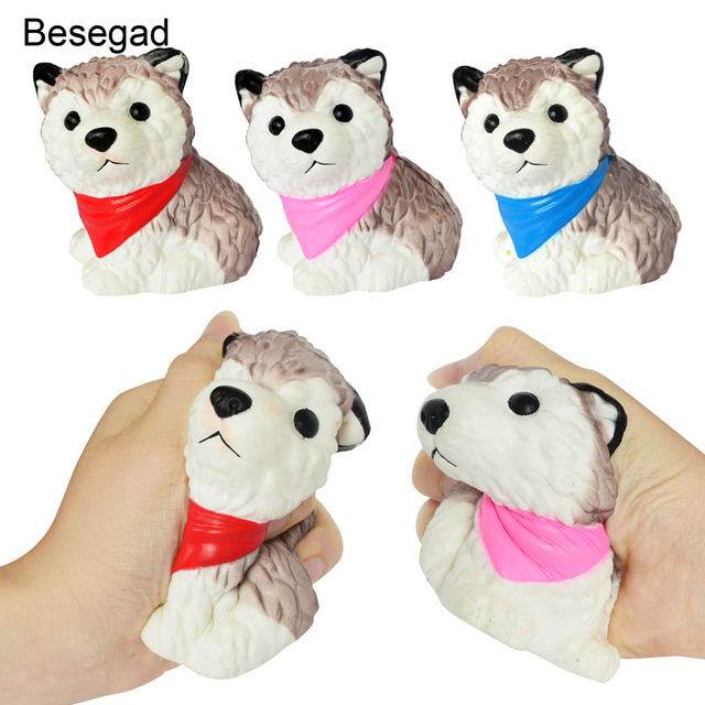 Image of: Stickers Besegad Cute Jumbo Big Kawaii Animals Squishy Husky Dog Squshi Toy Super Slow Rising For Relieves Stress Anxiety Random Color Aliexpresscom Besegad Cute Jumbo Big Kawaii Animals Squishy Husky Dog Squshi Toy
