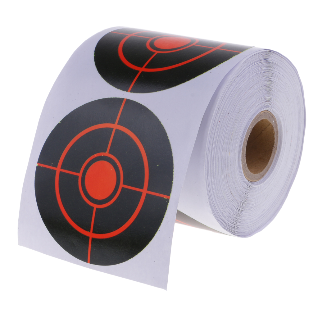 250pcs 3' Reactive Splatter Paper Targets For Hunting Archery Arrow Training Shoot Accessories Black & Red