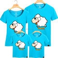 2015 Matching Father Mother Daughter Son Clothes Sheep Family Look Family Matching Clothes Parent-child Outfit  Ma e Filha