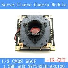 """1.3 Мегапиксельная 1280*960 AHD 960 P Модуль Камеры Плате, 1/3 """"NVP2431H + AR0130 CMOS ПЕЧАТНОЙ Платы + HD ИК-двойной переключатель фильтра"""