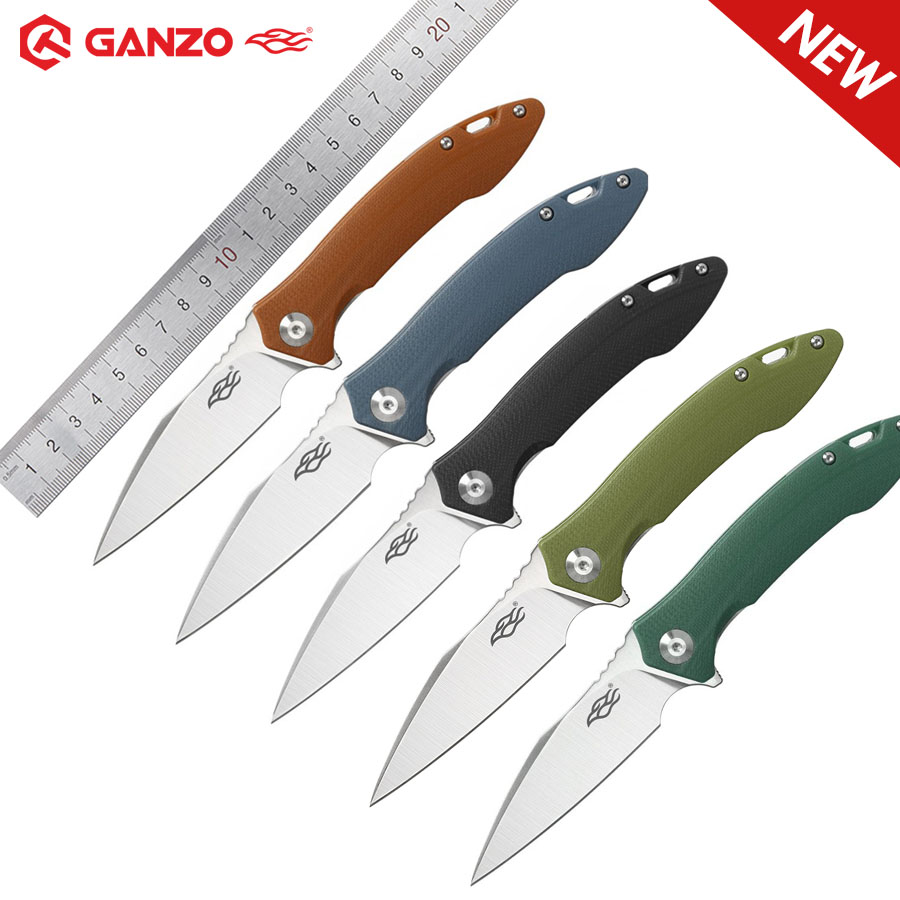 Ganzo Firebird FH51 nouveauté couteau de poche pliant 60HRC D2 lame G10 chasse survie en plein air tactique utilitaire main EDC couteau