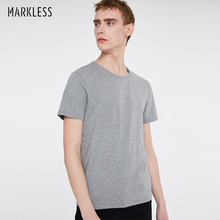 Markless Summer Cotton T Shirt Men Fashion Casual Tshirt Classic Basic T-shirt camisetas Package Sale Top & Tees TXA5630M