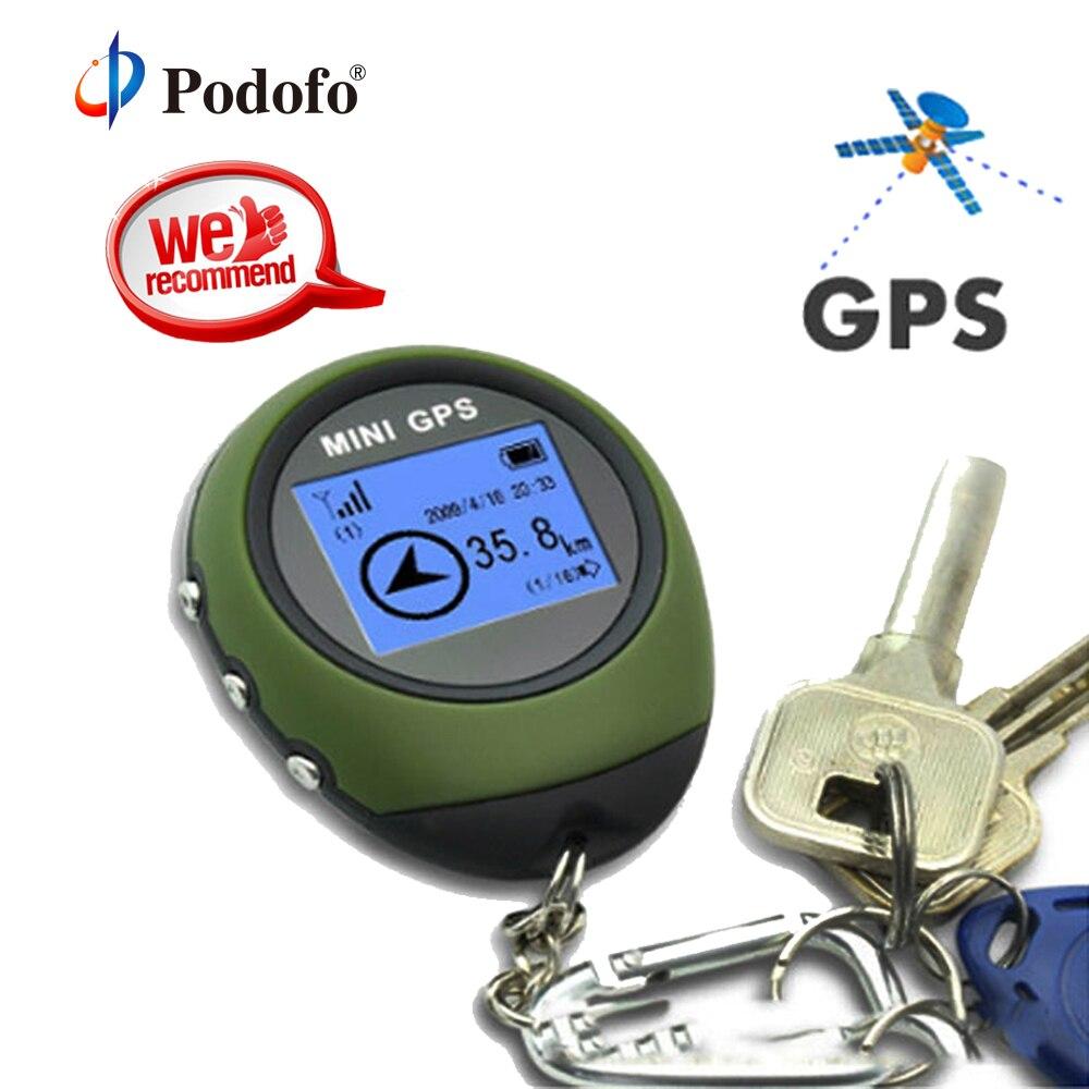Podofo Mini GPS Tracker Dispositif de Suivi Voyage Portable Localisateur Pathfinding Moto Véhicule Sport En Plein Air De Poche Porte-clés
