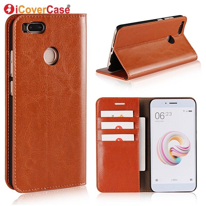 "For Xiaomi Mi 5X Case Xiaomi mi5X Case Luxury Flip Genuine Leather Wallet Cover Case Phone Cover Xiaomi Mi A1 5.5\"" Coque Capa"