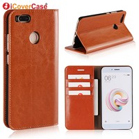 For Xiaomi Mi A1 Case 4gb 64gb Xiaomi Mi5X Case Luxury Flip Genuine Leather Phone Cover