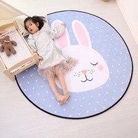 Kids Cartoon Round Carpet rabbit Floor Mat Home Carpet Kids Room Children Play Tent Area Rug Soft Carpets Bedroom tapete gift
