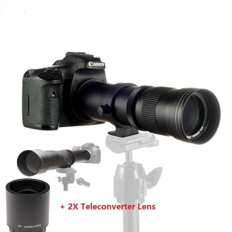 JINTU 420-800mm f/8.3 HD Téléobjectif Zoom Lens + 2X Téléconvertisseur OBJECTIF 1600 Pour Sony Alpha A68 A77 A280 A290 A380 A390 A580 A590