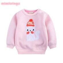 2017 autumn and winter new children fleece sweater cartoon girl children's clothing