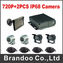 4 Channel Car DVR 720P MDVR Kit Including 2pcs IP68 Waterproof AHD Camera