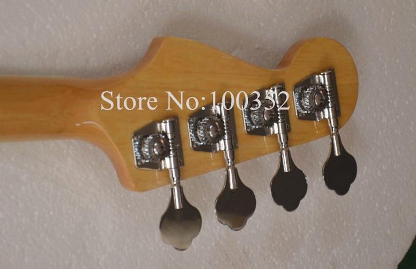 Высокое качество QShelly пользовательские натуральный пепел тела 4 струны белый квадратный инкрустация джазовый электрический бас гитары, музыкальные инструменты магазин