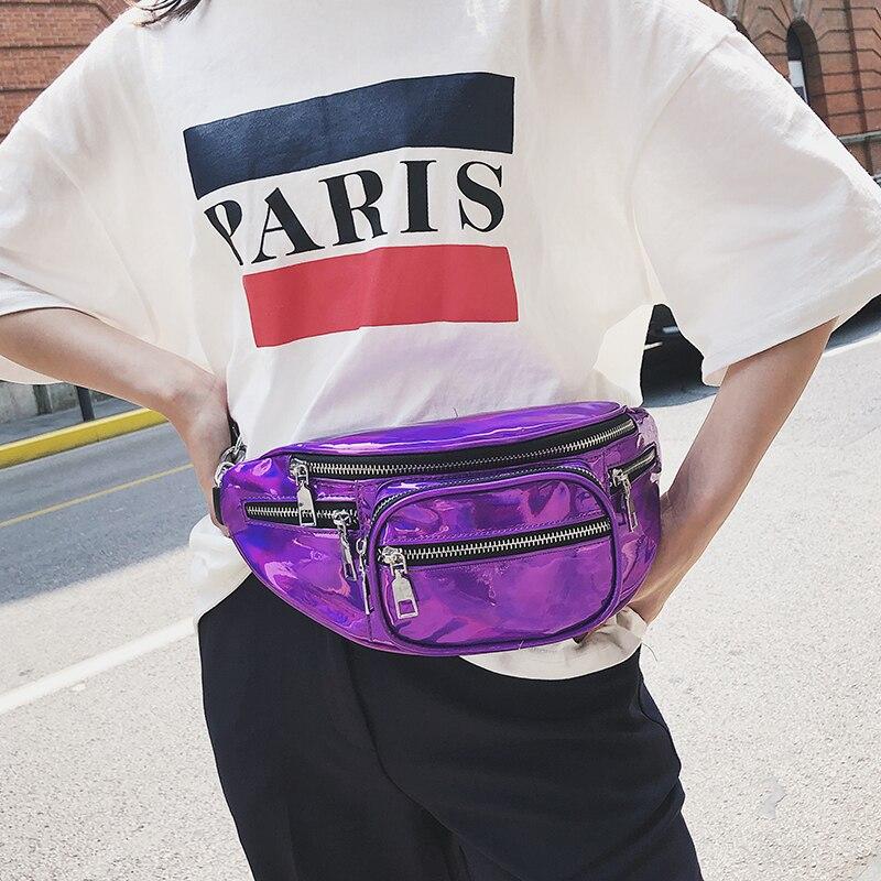 Unisex Waterproof Laser Waist Belt Bag Women Pouch Chest Bag Hip Waist Pack Belt Shoulder Messenger Beach Bag 125