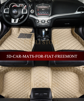 Leather Car floor mats for FIAT Freemont custom fit car carpets foot mats liners