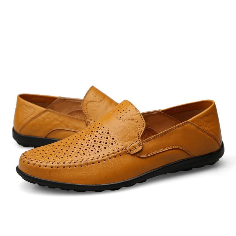 HTB1bf8gkpGWBuNjy0Fbq6z4sXXaj JKPUDUN Italian Mens Shoes Casual Luxury Brand Summer Men Loafers Genuine Leather Moccasins Comfy Breathable Slip On Boat Shoes