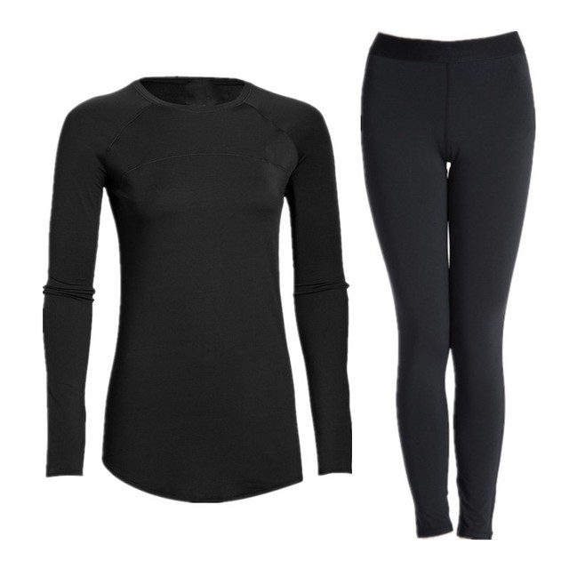 Good Quality Women's Compression Underwear Base Layers Long Sleeve Stretch Quick Dry Tights Tops & Pants Sets