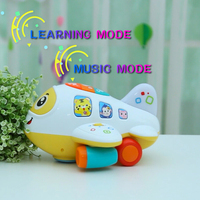 Electric Airplane Model Flashing Light Kids Musical Airplane Toy Planes for Children Diecasts & Vehicles Toy for boy 1-3 years