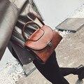 Envío libre, 2016 nuevos bolsos de las mujeres, moda versión Coreana de la solapa, tendencia bolsa de mensajero mujer, color sólido bolso de hombro retro.