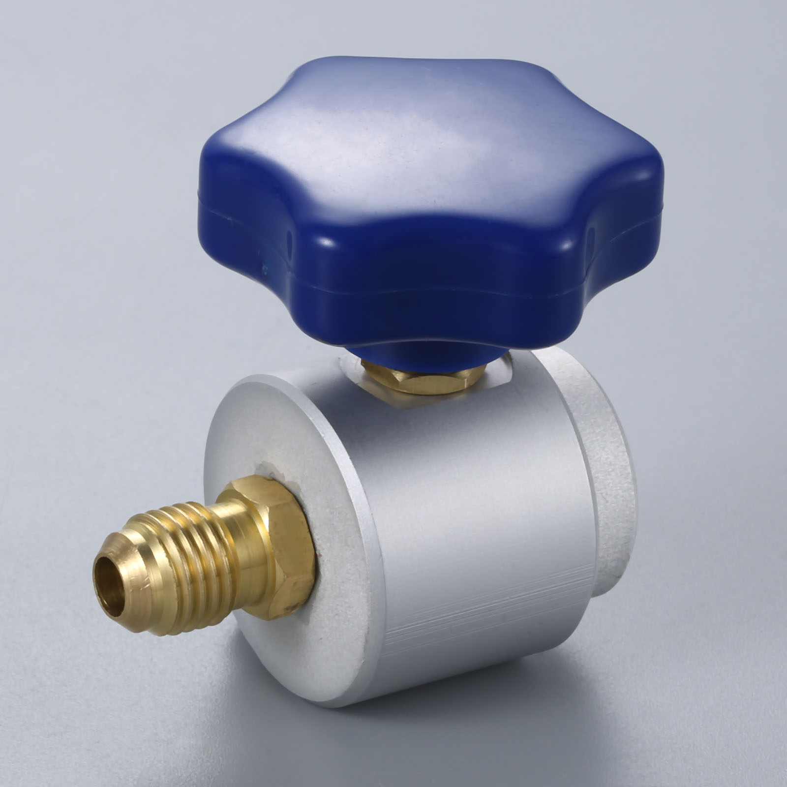 """R134a Self sealing Can Tap Valve 7/16""""   28 UNF Female x 1/4"""" SAE Male C/W Hand Wheel-in Air-conditioning Installation from Automobiles & Motorcycles"""