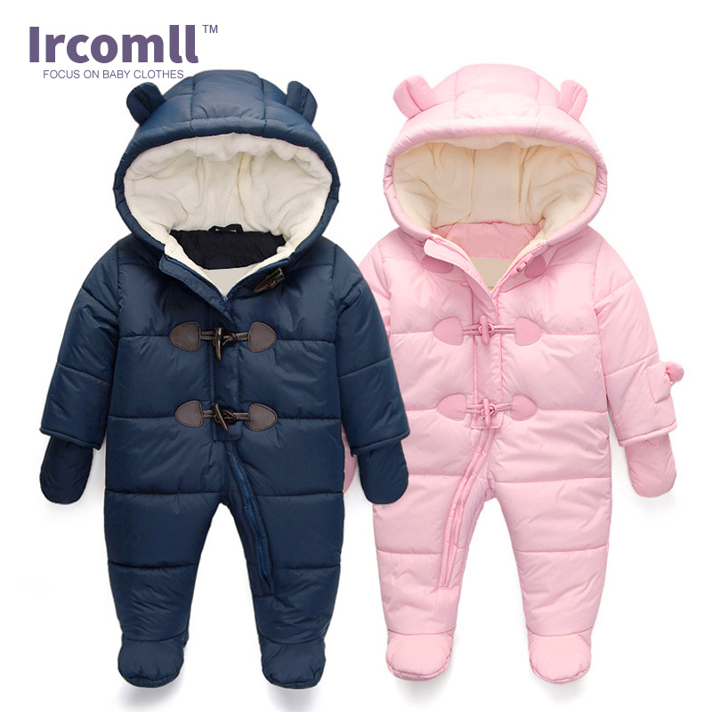 Keep warm Infant Winter clothes Newborn Baby Boy Girl Romper Jumpsuit Hooded  Kid Outerwear For 0-18M baby clothes winter keep warm flannel baby rompers baby boy girl coat next romper newborn kids clothes jumpsuit set