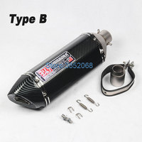 Length 570mm/470mm/380mm Left/right Side Yoshimura Motorcycle Exhaust Muffler Escape Motorbike Muffler Exhaust with DB Killer