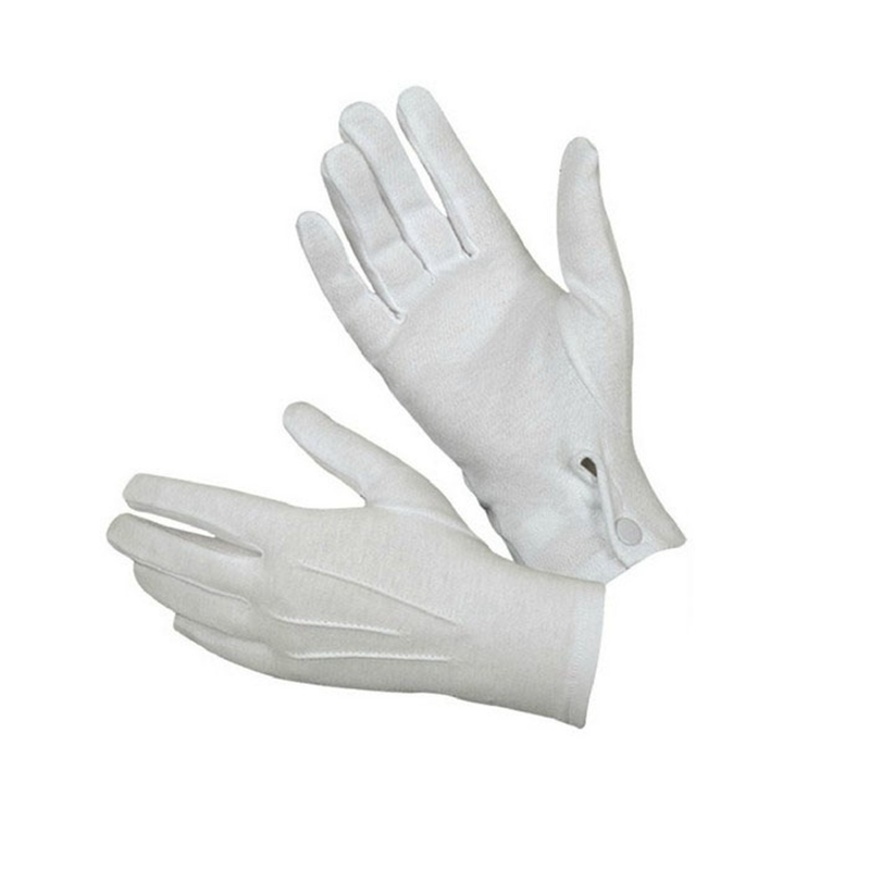1Pair White Formal Gloves Honor Guard Men And Women Cotton Mittens Gloves Elastic Etiquette Gloves Wholesale#YL