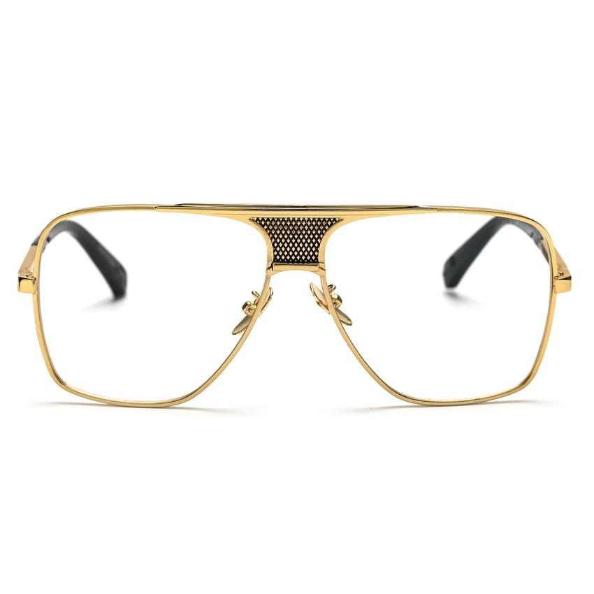 aliexpresscom buy peekaboo flat top men glasses frame branded designer big square metal gold frame glasses for men optical high quality lunettes from