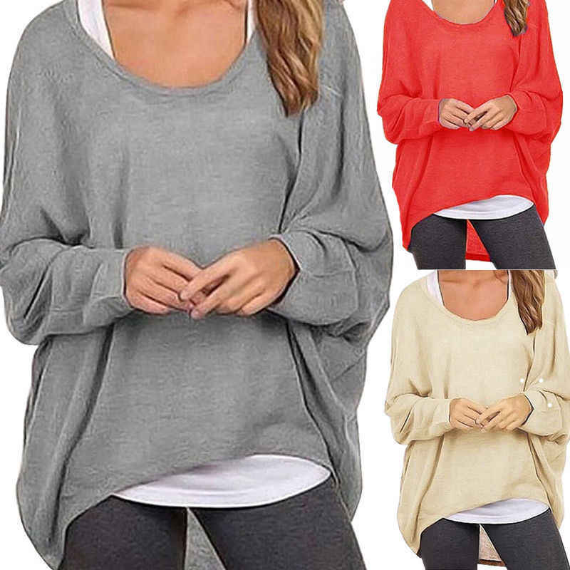 948937afad8038 Spring 2019 Oversized T Shirts Fashion Baggy Women Long Sleeve Tops Tee  Casual Women Clothing Loose