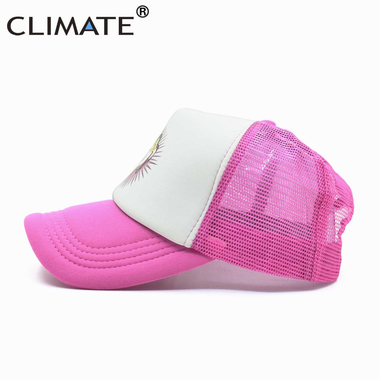 気候ユニコーンキャップ女の子のための帽子ユニコーンピンクローズかわいいキャップ素敵な夏キャップ帽子ヒップホップメッシュ野球キャップ女性のための